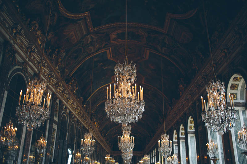 France travel photography Versailles Hall of Mirrors palace