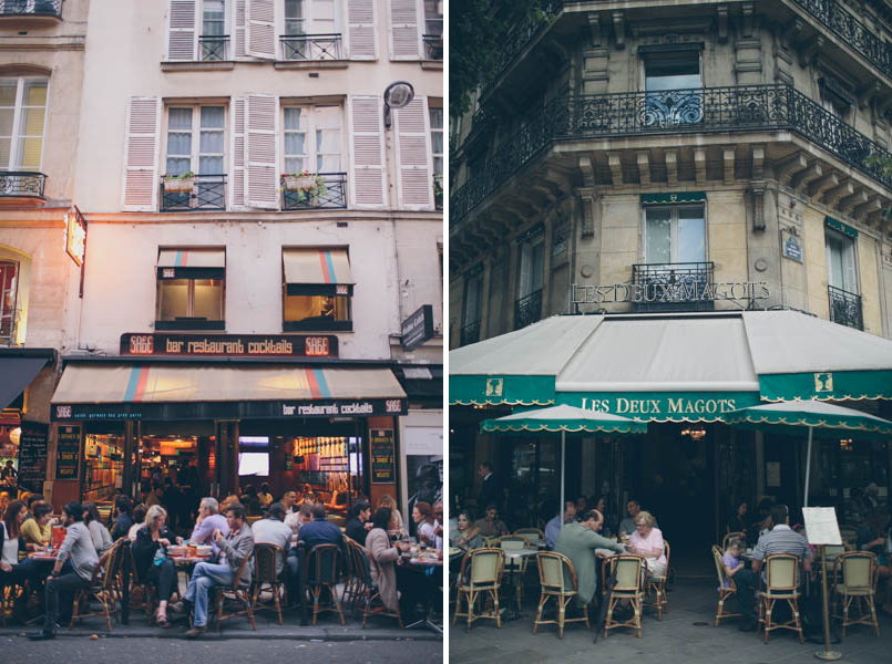 France travel photography cafe culture Boulevard Saint Germain Les Deux Magots