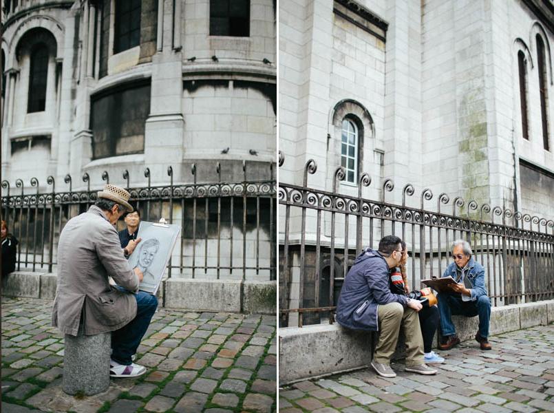 France travel photography Paris Montmartre portrait artists