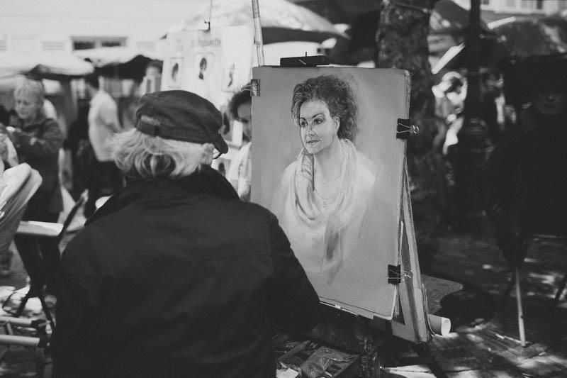 France travel photography Paris Montmartre portrait artist