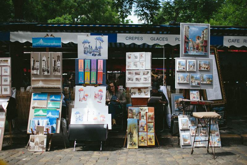 France travel photography Paris Montmartre art