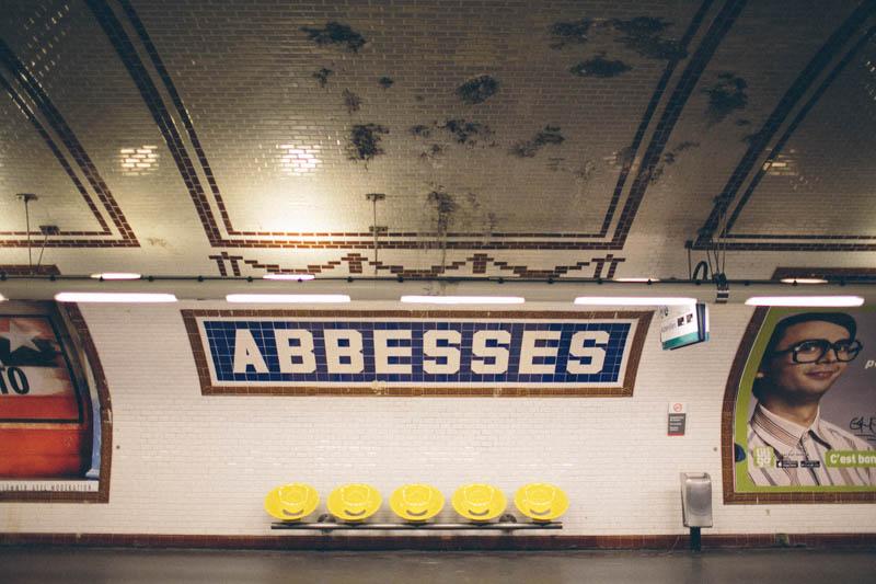 France travel photography Paris metro Abbesses