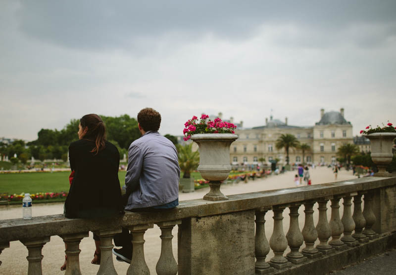 France travel photography Paris Luxembourg gardens couple love summer