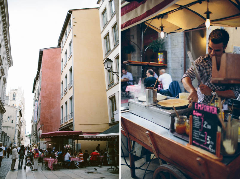 France travel photography Lyon streets culture food crepes