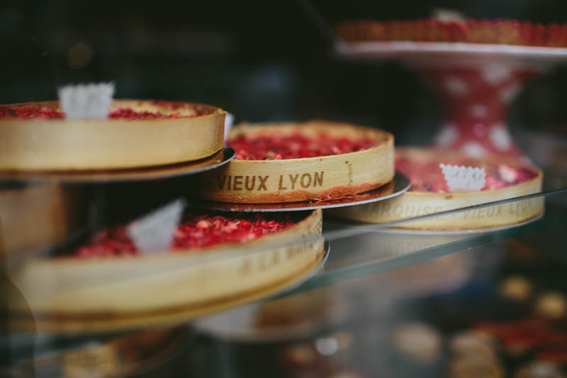 France travel photography Lyon food tarts Vieux Lyon