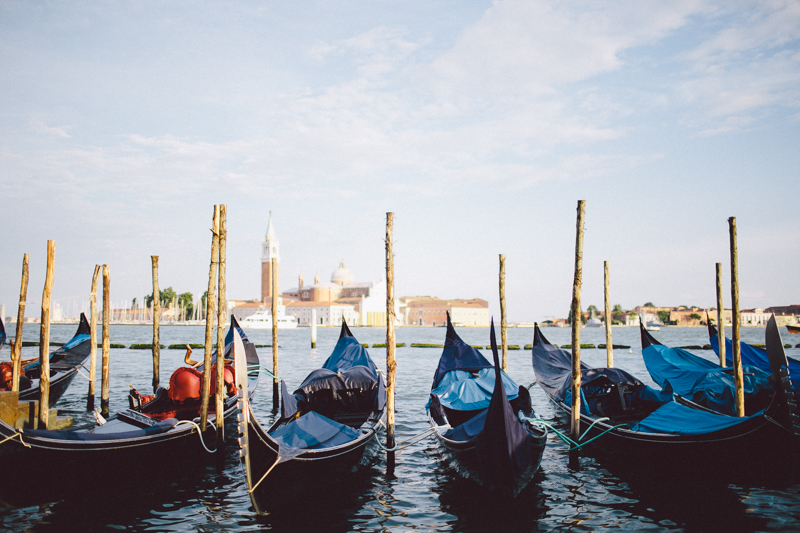 Venice water gondolas