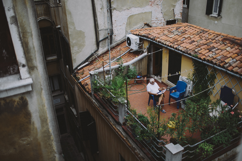 Venice rooftop life