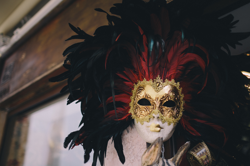 Venice Venetian mask black red gold