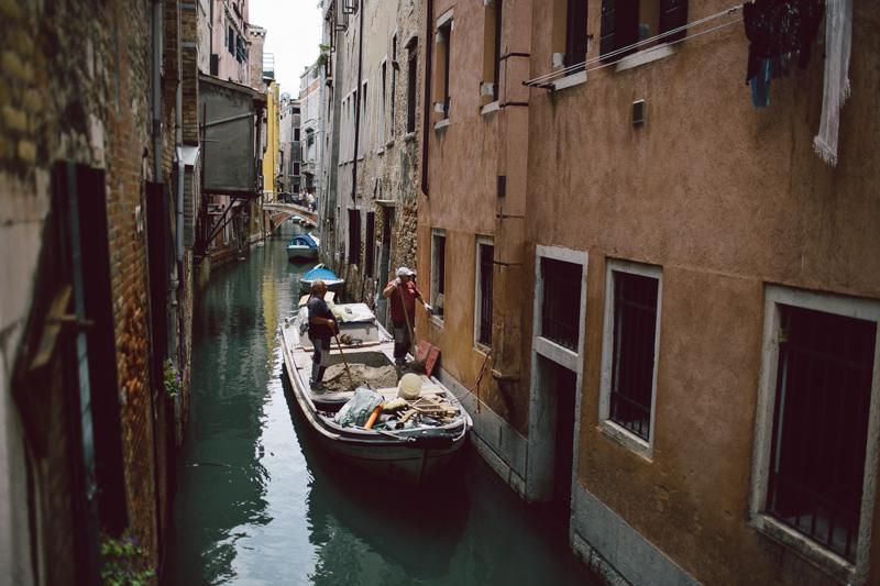 Venice canal construction