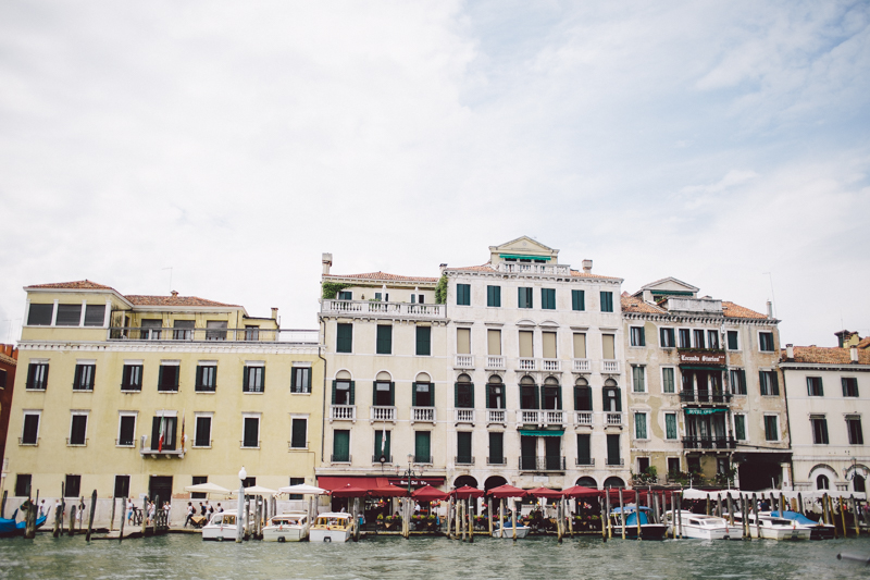 Venice grand canal water taxi