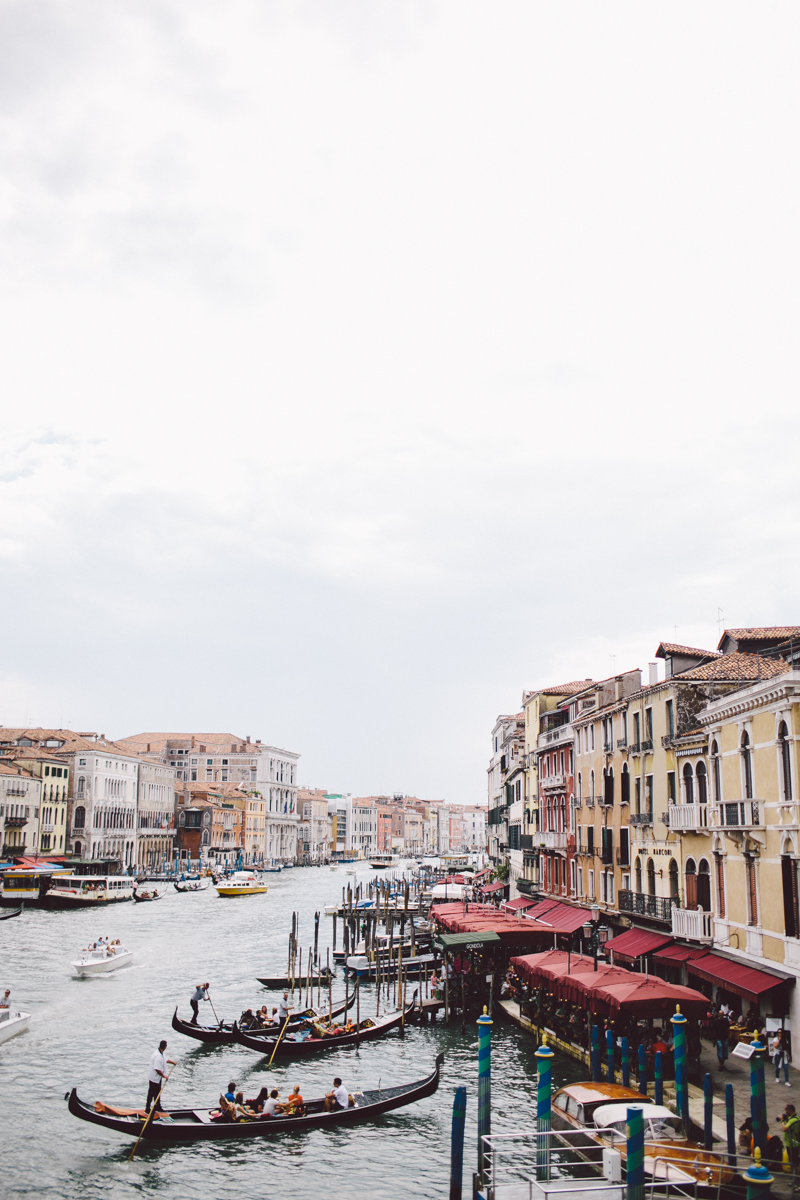 Venice grand canal from Rialto Bridge