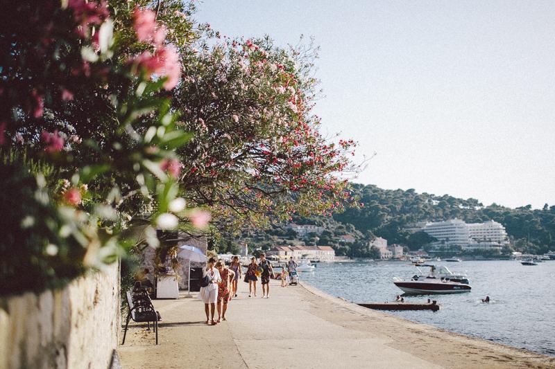 croatia travel photography lopud island adriatic coast summer pink oleander