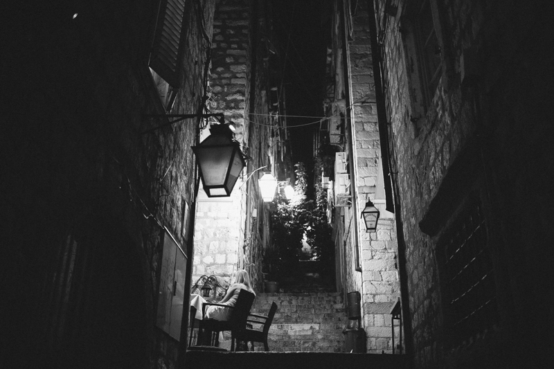 croatia travel photography dubrovnik old town night