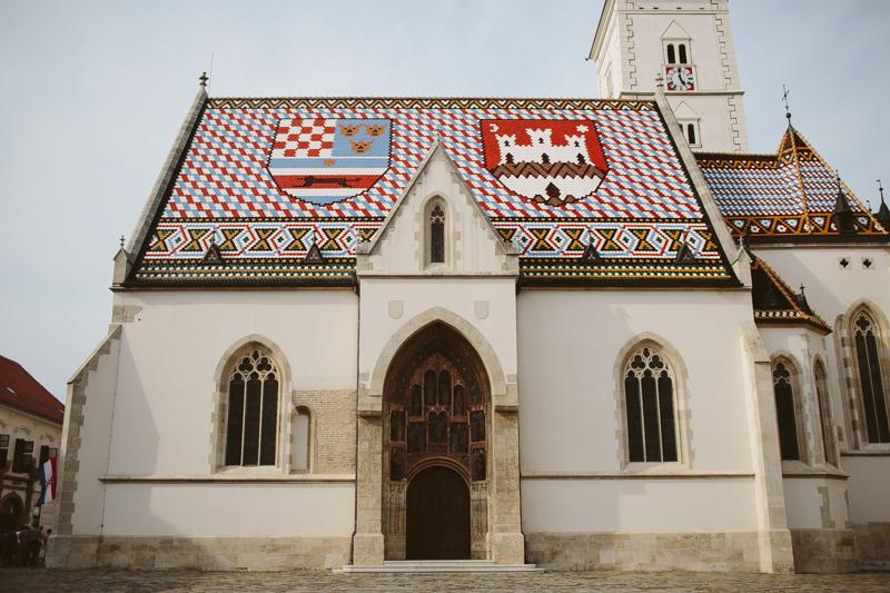 croatia travel photography zagreb culture st marks church