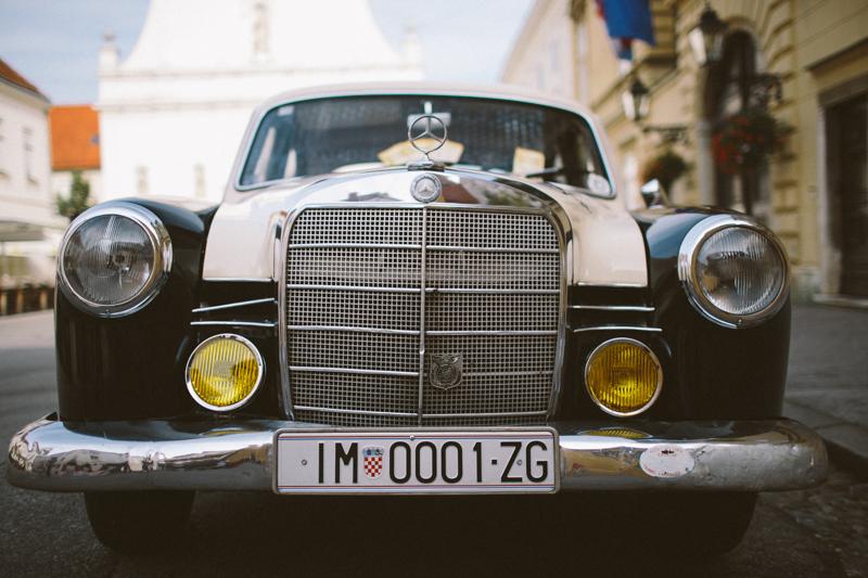 croatia travel photography zagreb old mercedes benz