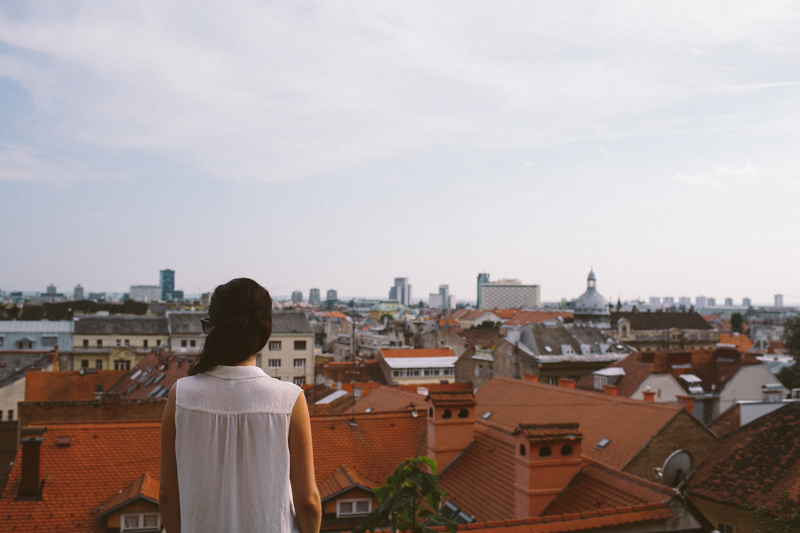 croatia travel photography zagreb architecture gric old town rooftops