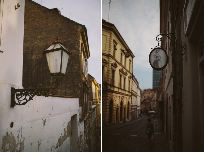 croatia travel photography zagreb architecture old buildings gric streets