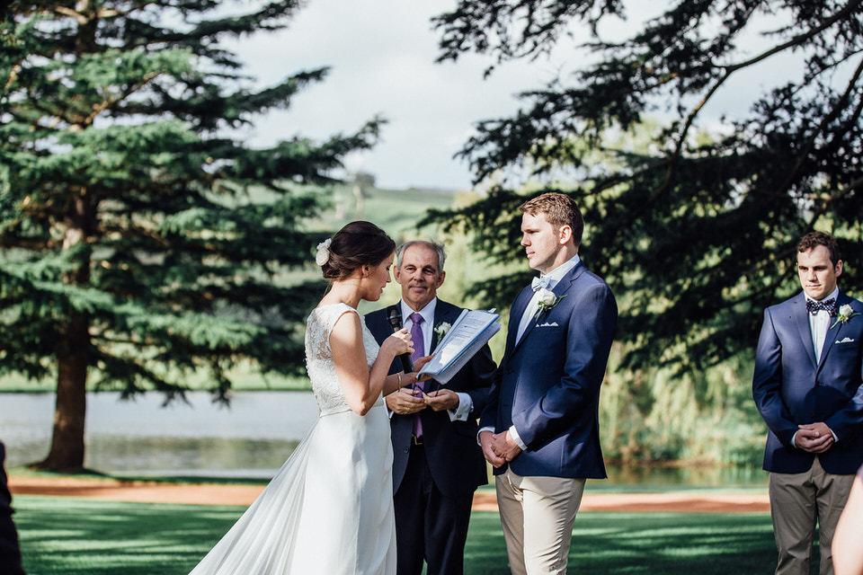 wedding ceremony at bendooley estate in bowral southern highlands