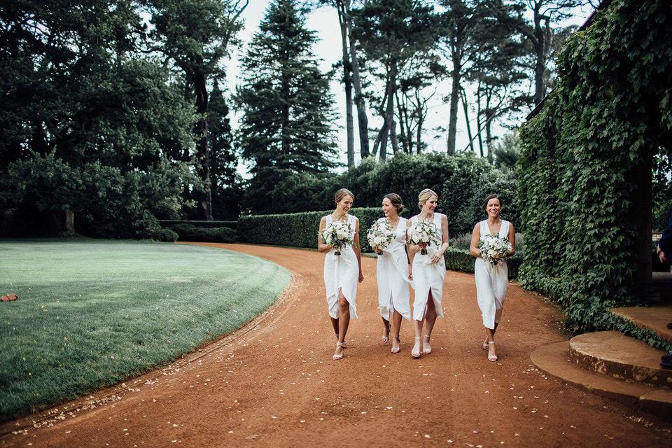 bridesmaids at bendooley estate in bowral southern highlands