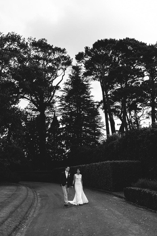 bride and groom at bendooley estate in bowral southern highlands