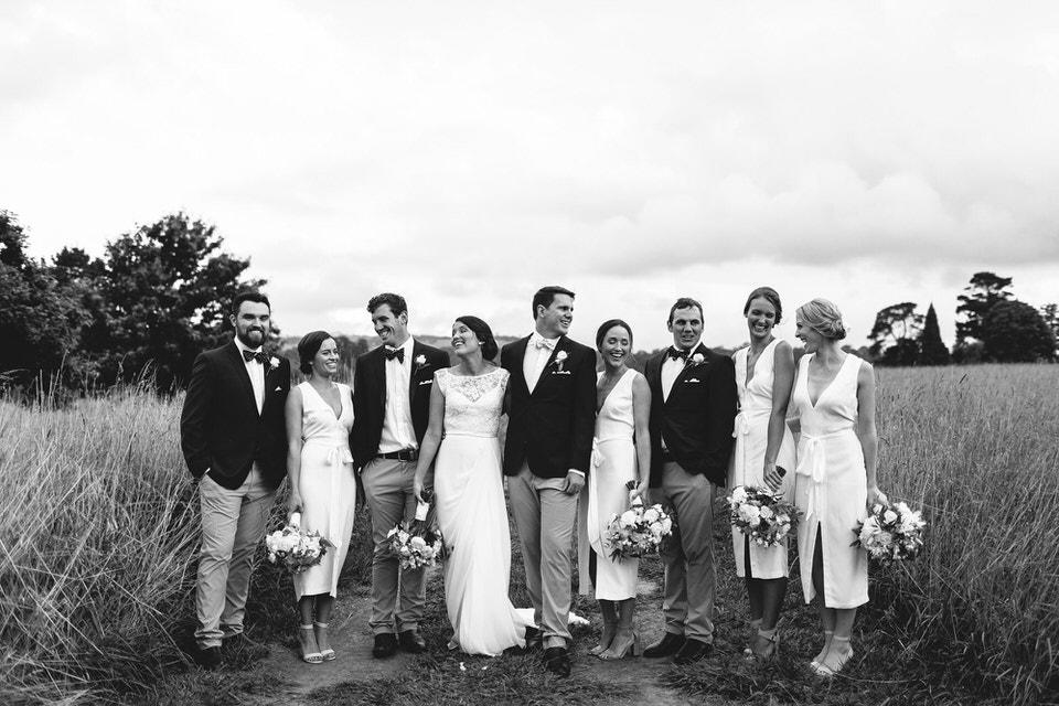 bridal party photos at bendooley estate wedding in bowral southern highlands