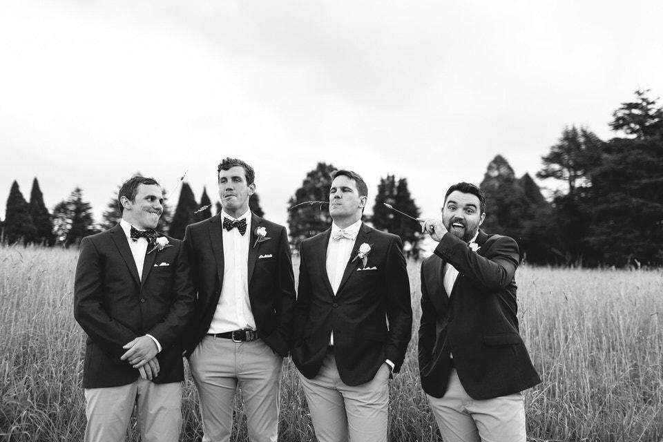 groom and groomsmen at bendooley estate wedding in southern highlands