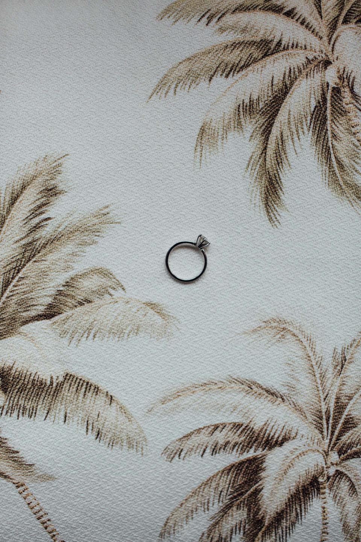 Blue Nile Engagement Ring at Bondi Beach wedding