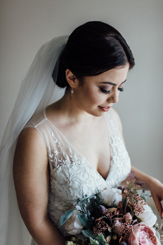 Bride portrait before ceremony