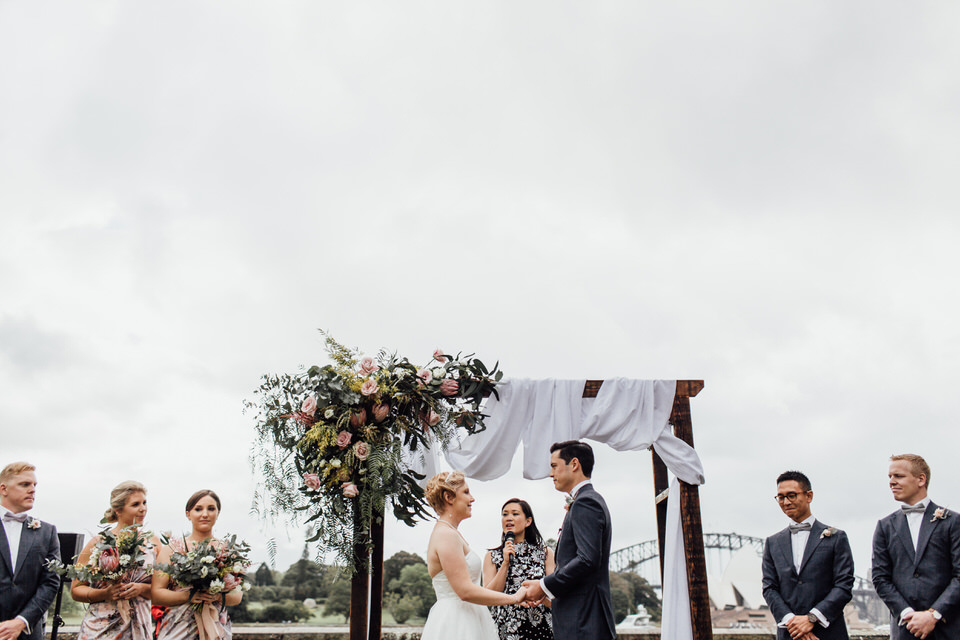 Sydney Harbour Botanic Gardens wedding ceremony styled by George and See