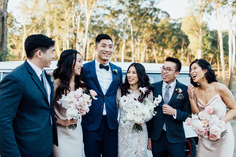 Bridal party at Centennial Vineyards