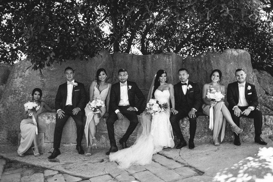 Bridal party at Camp Cove Watsons Bay