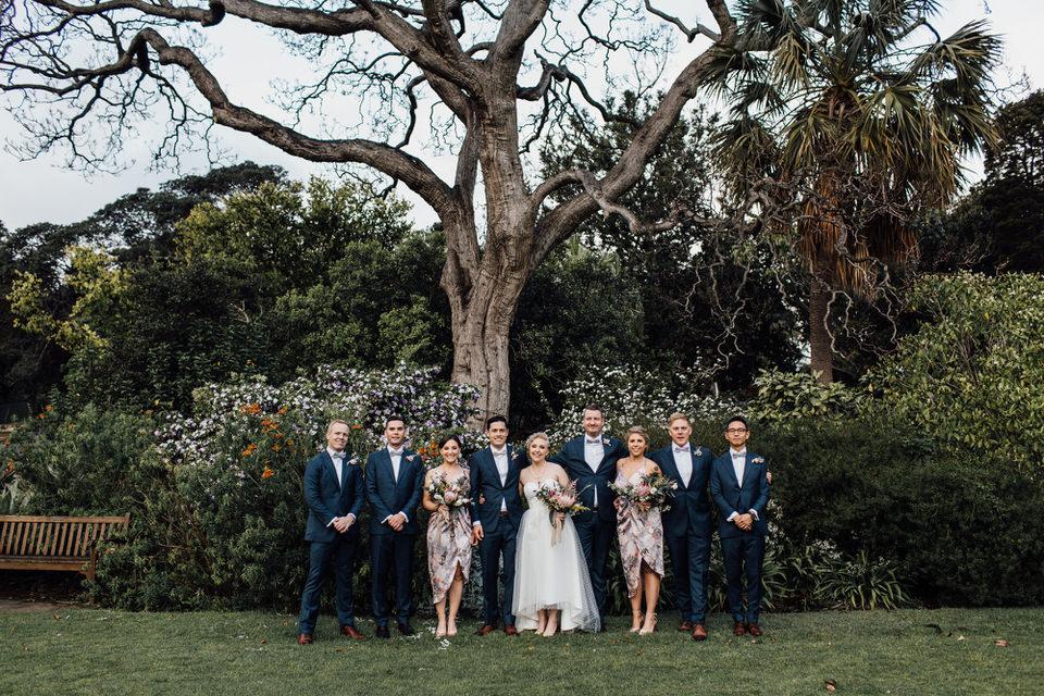 Bridal party in Sydney Botanic Gardens