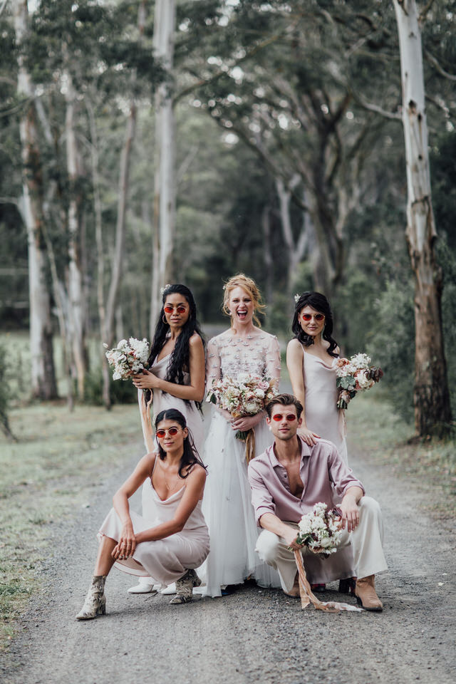 Bridal party at Wombat Hollow Southern Highlands