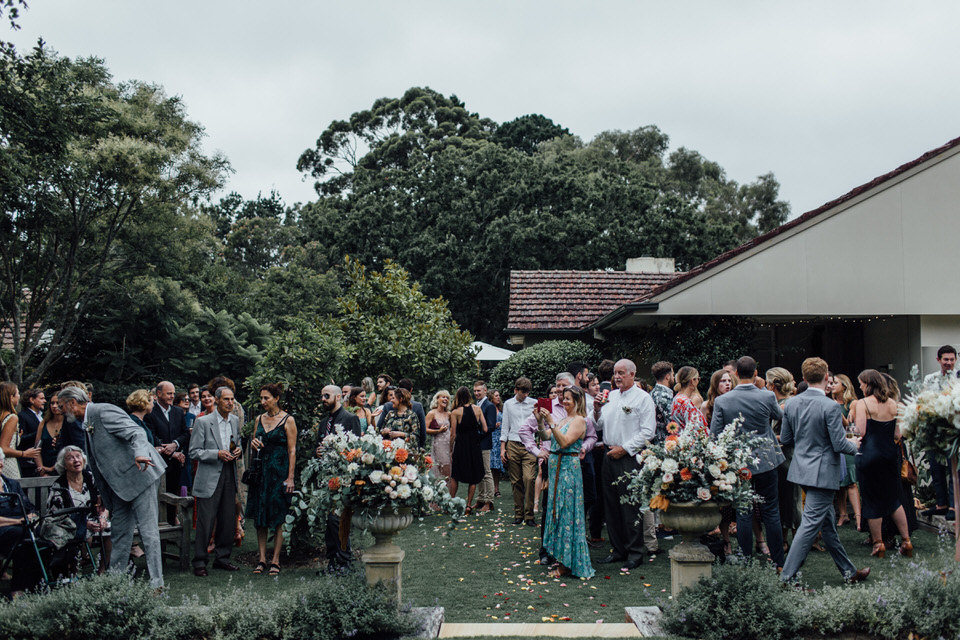 relaxed Sydney backyard wedding