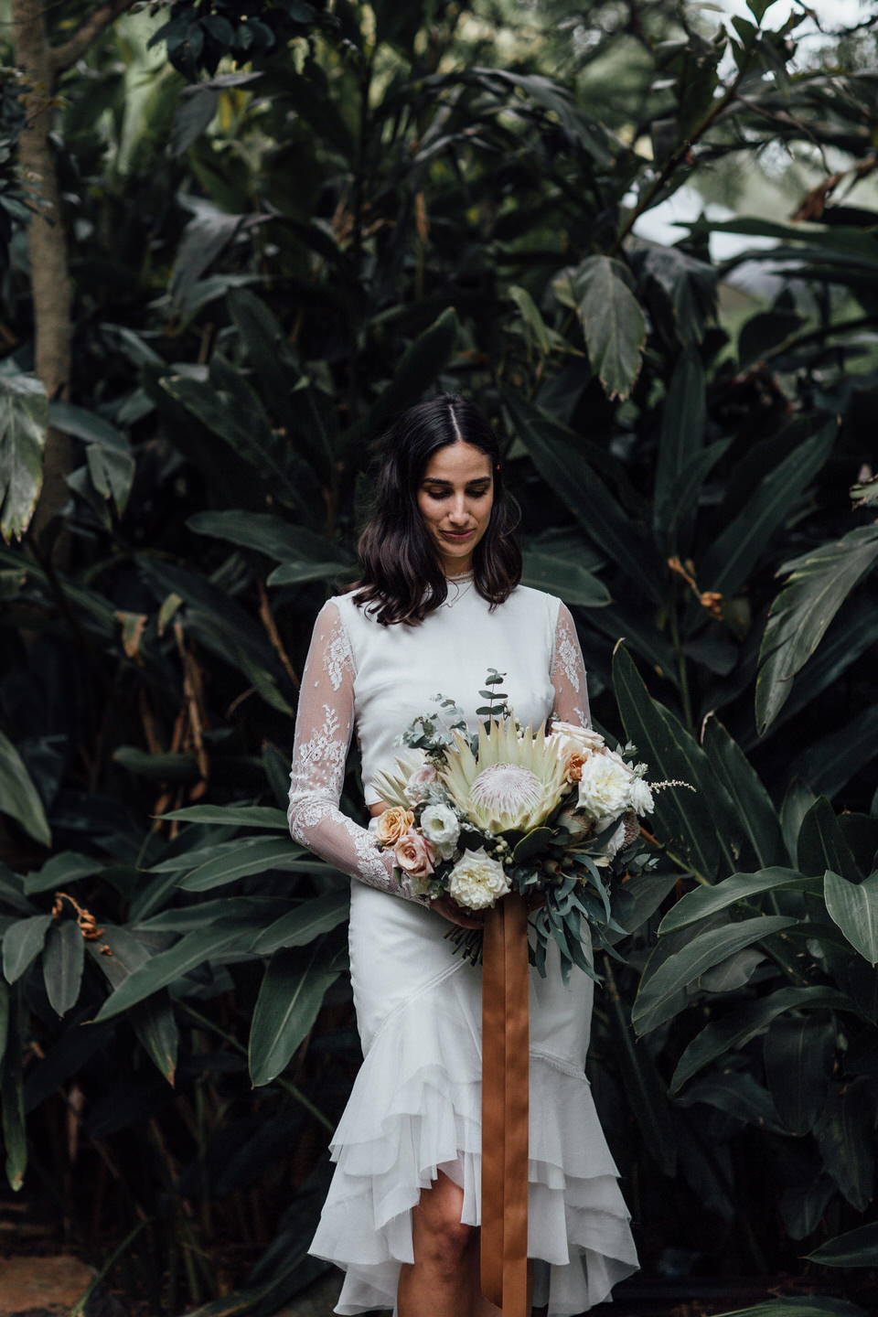 alternative modern relaxed bride