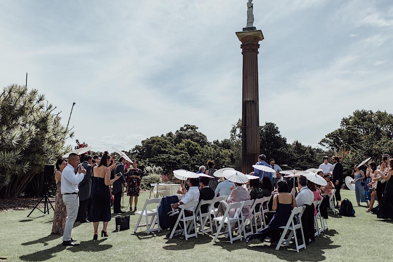 Centennial Park wedding ceremony in the Column Garden