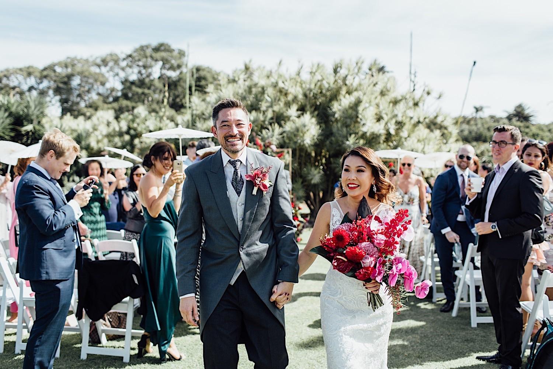 Centennial Park wedding ceremony in Column Garden