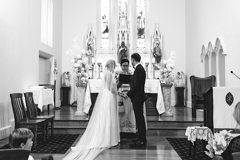 St Francis Xavier Berrima wedding ceremony