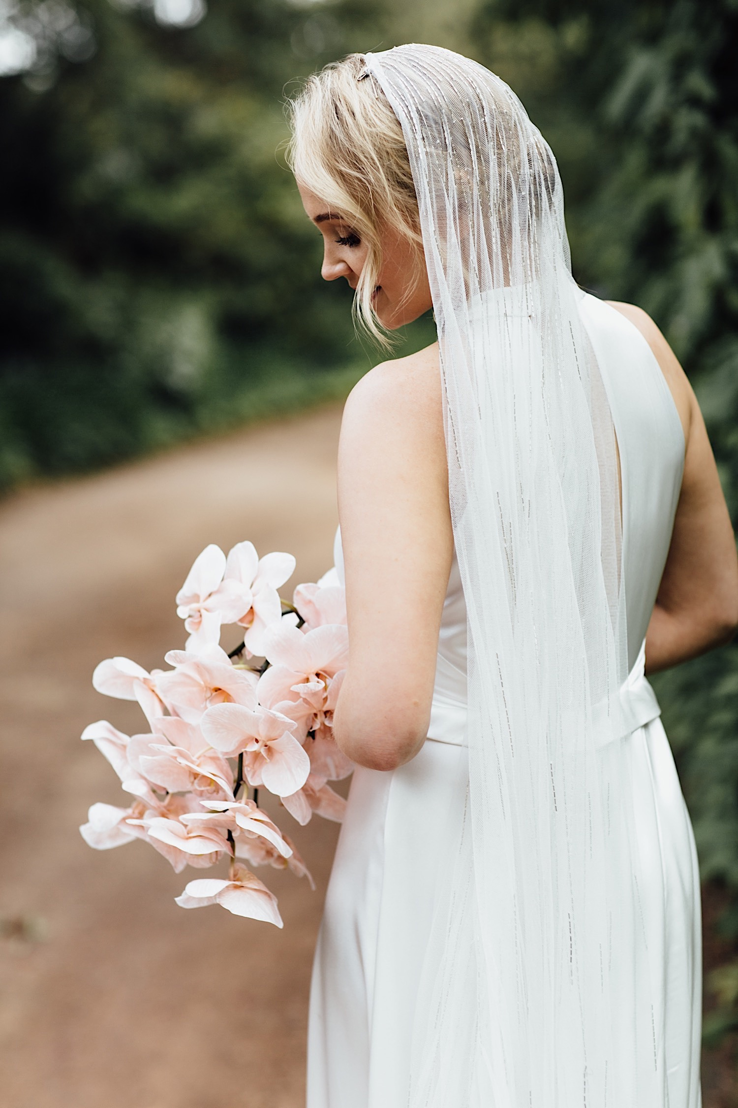 Bride at Arafel Park wedding