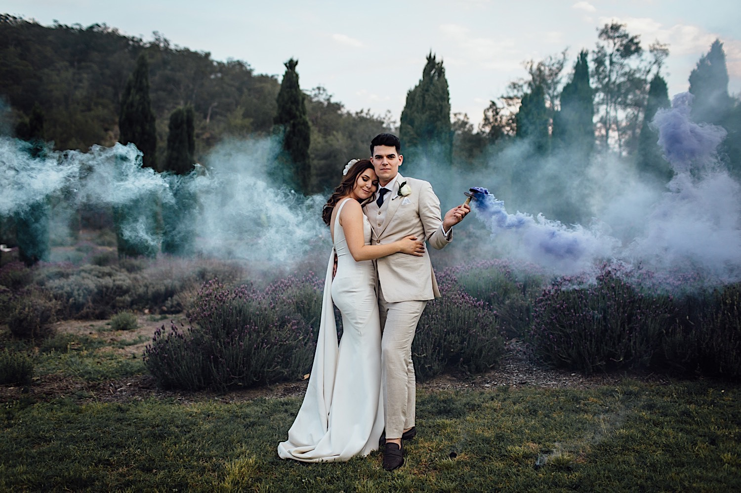 Bride and groom at Redleaf Wollombi wedding in Hunter Valley