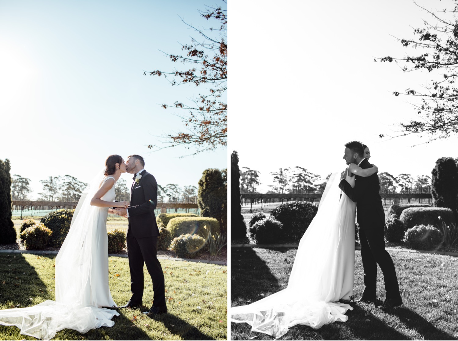 spring wedding ceremony at centennial vineyards Bowral