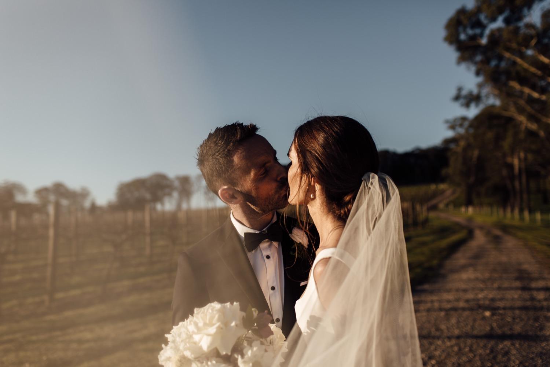 Centennial vineyards wedding photography sunset