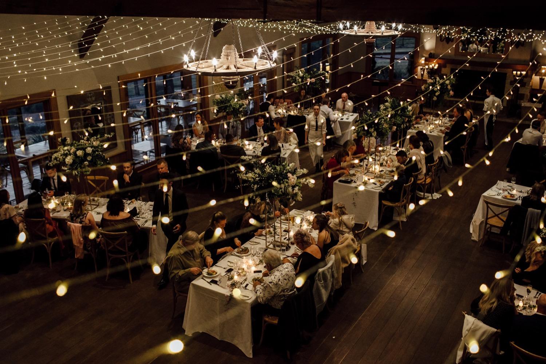 romantic wedding reception at centennial vineyards Bowral