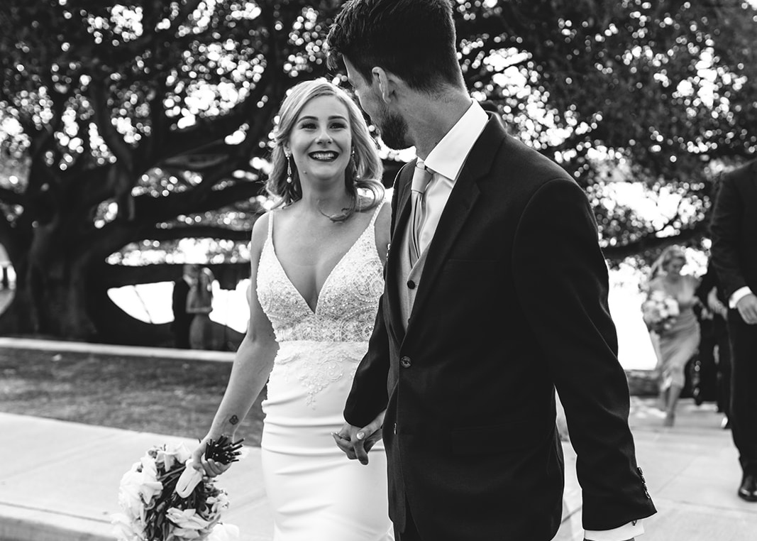 Watsons Bay wedding at Dunbar house