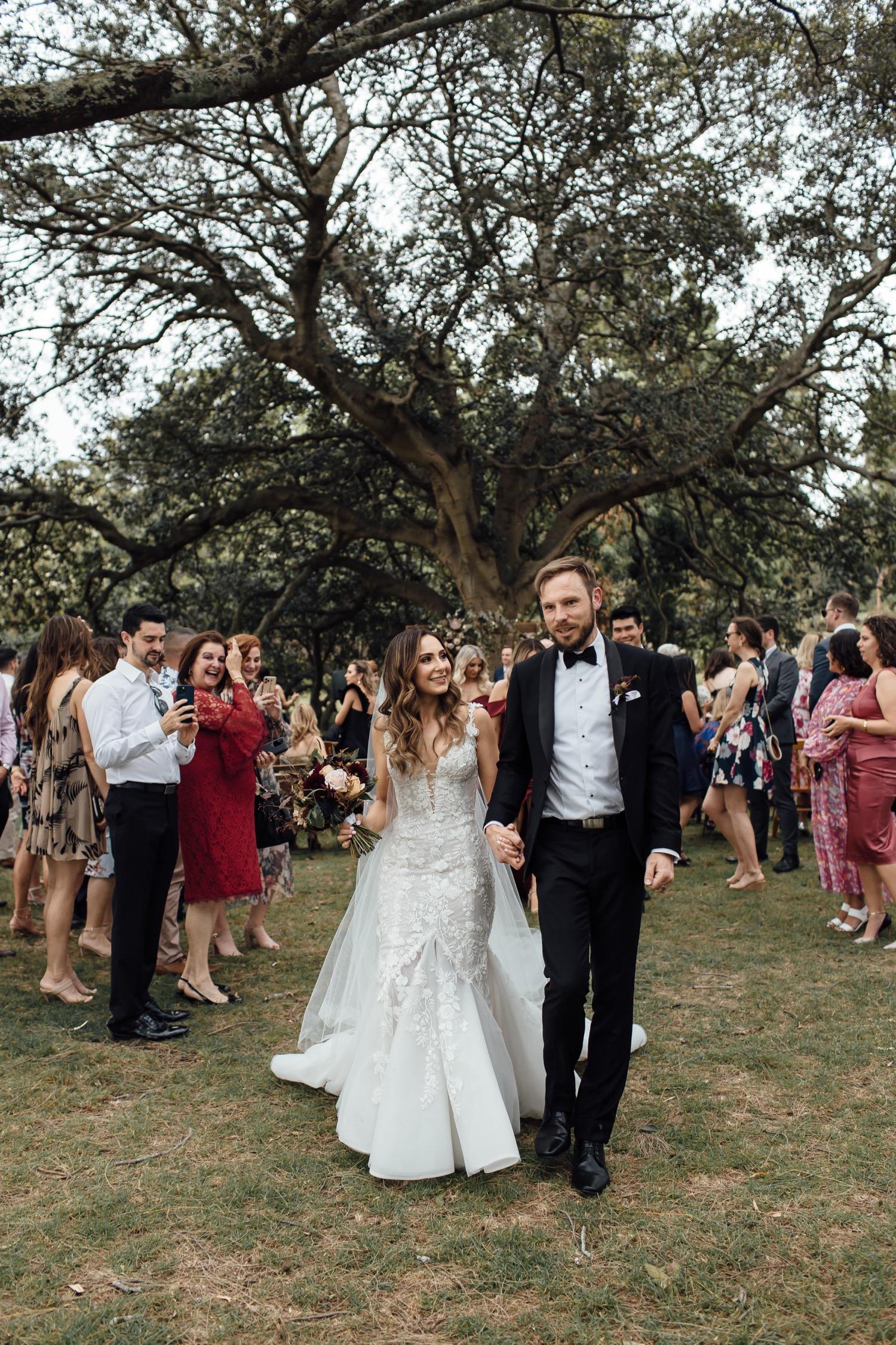 Centennial Park She-Oak Grove wedding ceremony
