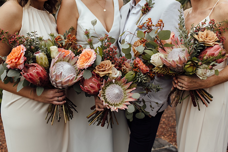Bridal bouquet Australian natives Royal Botanic Garden Sydney wedding
