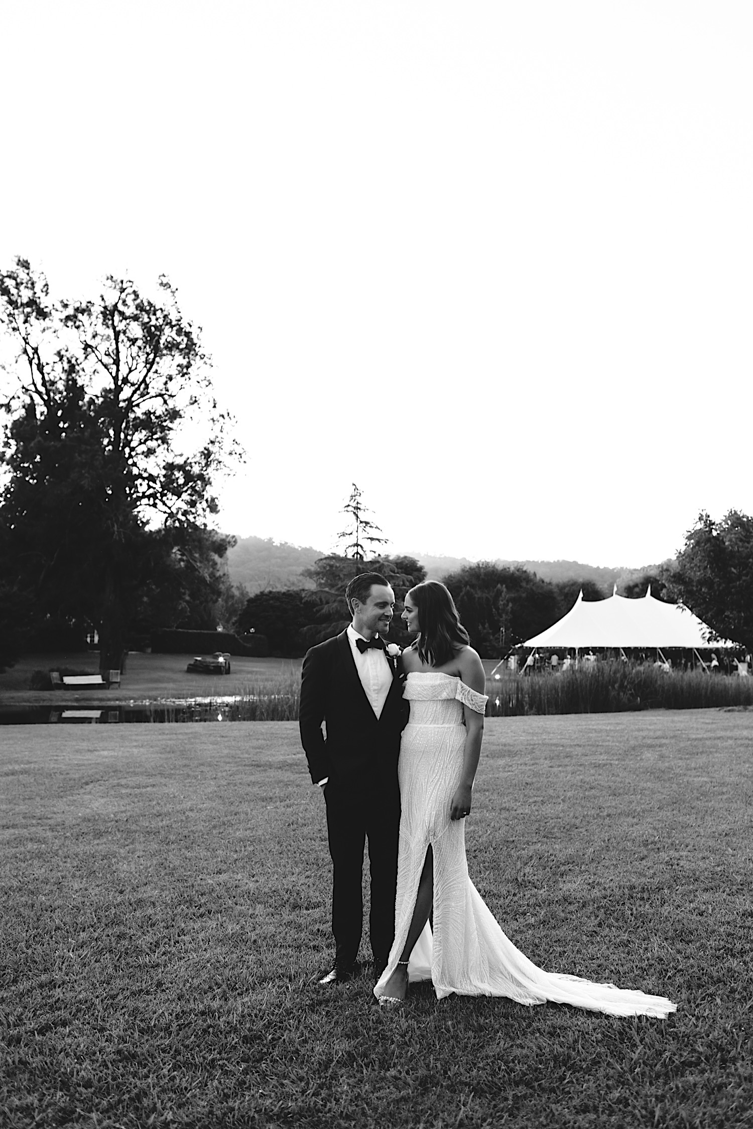 black tie wedding at Redleaf Wollombi Hunter Valley